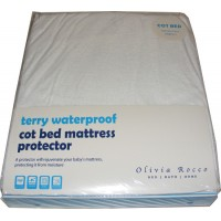 Cot Bed Size Terry Toweling Waterproof Mattress Cover Protector