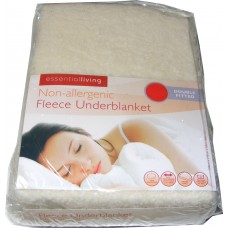 Double Fitted Thermal Fleece Underblanket Mattress Cover