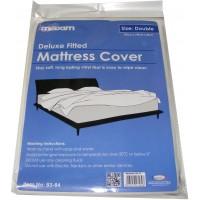 Double Plastic Vinyl Waterproof Mattress Cover Protector