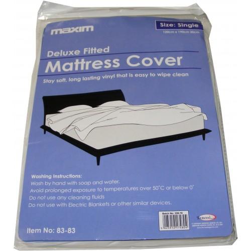 Single Plastic Vinyl Waterproof Mattress Cover Protector