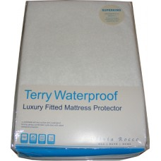 Super King Size Terry Toweling Waterproof Mattress Cover Protector
